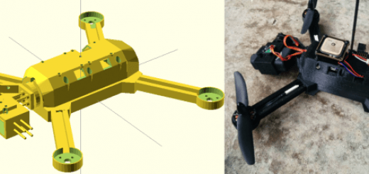 """drone3 520x245 - Un drone imprimido en 3D que sigue al """"lider"""""""
