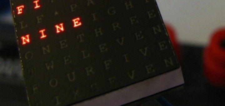 relojadruino 720x340 - Un reloj de palabras con Arduino