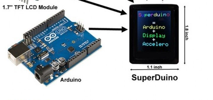 superd 720x340 - Superduino, un smartwatch con Arduino