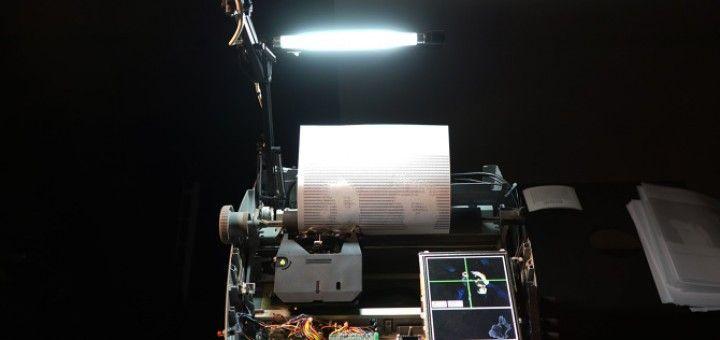 Creando arte ASCII con una máquina de escribir y #Arduino
