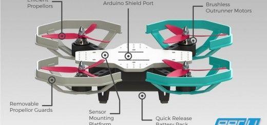 eedu 520x245 - Eedu, un dron para enseñar a programar compatible con Arduino