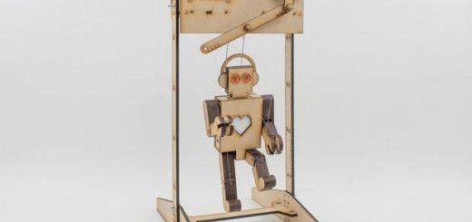 marioneta arduino 520x245 - Una marioneta controlada por pantalla táctil