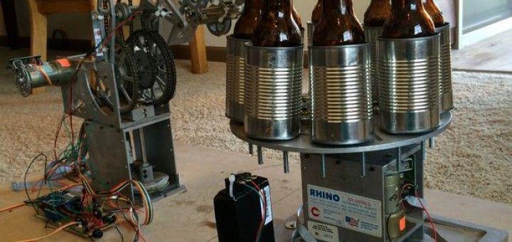 cervezas arduino 720x340 - Este robot te abre las cervezas por ti gracias a Arduino