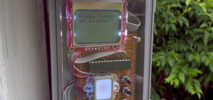 finger arduino1 720x340 - Un detector de huellas para abrir tu garaje creado con Arduino
