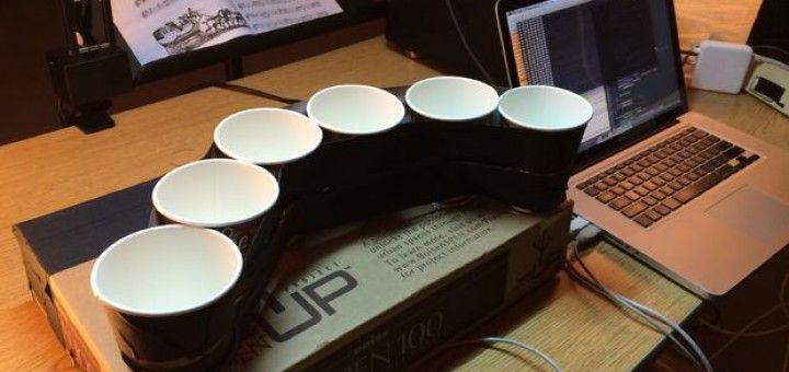 illuminaphone 720x340 - Arduino y unas tazas de café hacen un original instrumento musical