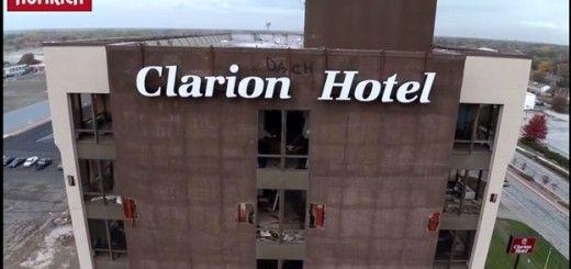 clarion drone 520x245 - Vídeo del día: demolición de edificio desde un dron