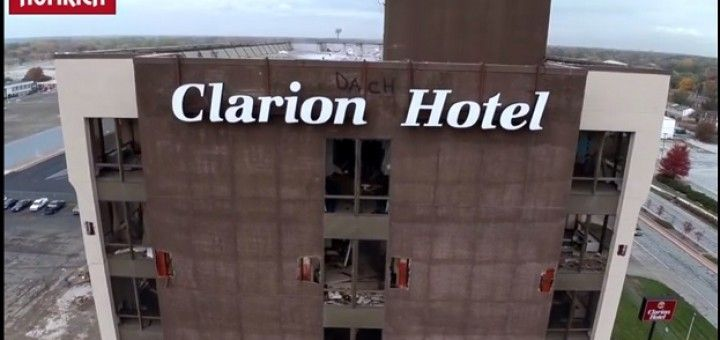 clarion drone 720x340 - Vídeo del día: demolición de edificio desde un dron