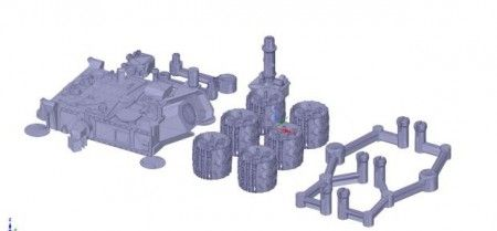 curiosity3d 450x209 - Ya puedes imprimir en 3D una maqueta del Curiosity Mars Rover de la NASA