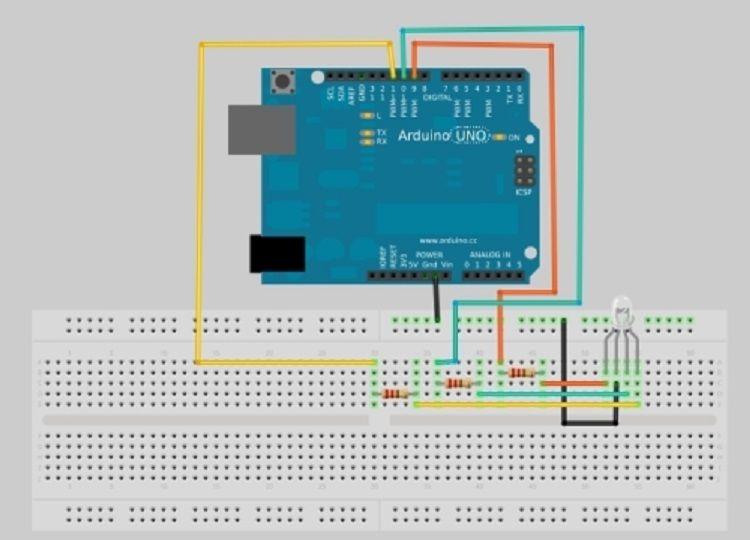 led rgb 1 - Tutorial: Diodo LED. Controlar un LED RGB