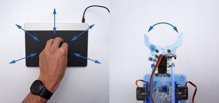 robot arduino 720x340 - Controla un brazo robotico solamente con los gestos de sus manos