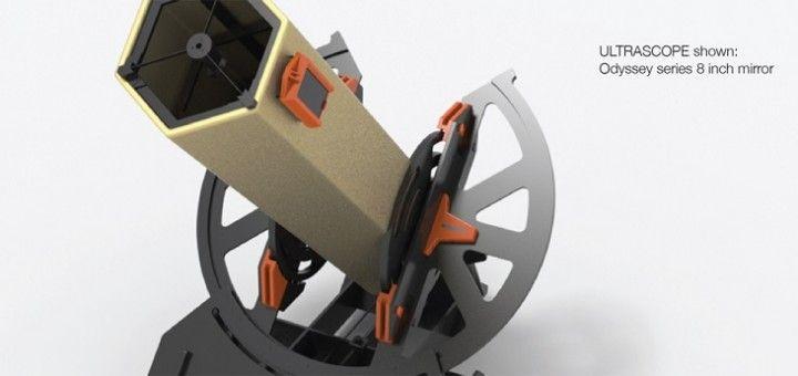 ultrascope1 720x340 - Imprime en 3D tu propio telescopio controlado con Arduino