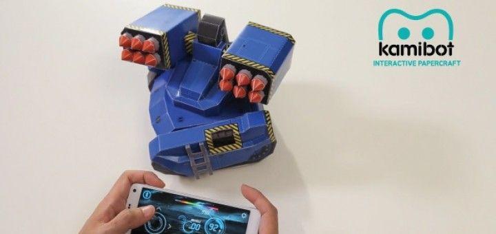 kamibot 720x340 - Kamibot, un robot de cartulina compatible con Arduino