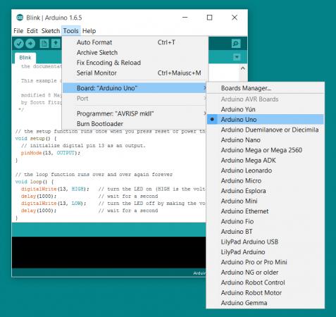 selecciona arduino 477x450 - Arduino para dummies, una guía básica para principiantes