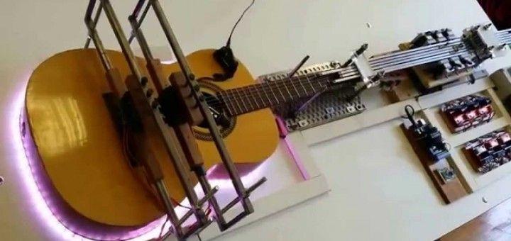 arduino guitar 720x340 - Arduino también toca la guitarra.