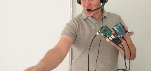 controlando1 520x245 - Controla tu robot Roomba por voz gracias a Raspberry Pi y Arduino