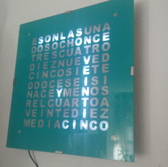 Reloj de palabras en español con un arduino nano