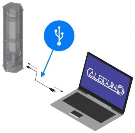 caleiduino2 458x450 - Caleiduino, un caleidoscopio digital sonoro e interactivo