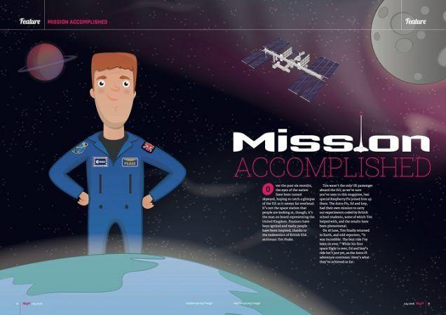 astropimag 636x450 - Especial de la revista Magpi sobre el proyecto Astro Pi