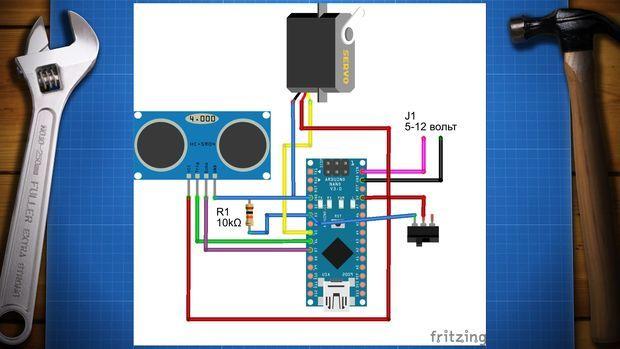 papelera robot1 - Construye una papelera robotizada con Arduino