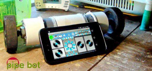 pipebot1 520x245 - Pipe Bot, un divertido robot controlado con tu smartphone y Arduino