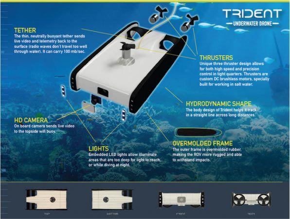 trident1 596x450 - OpenRov Trident, un drone submarino con Raspberry Pi 3