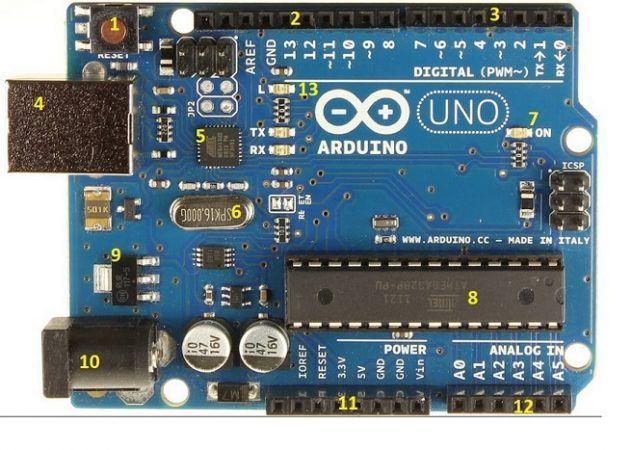 arduino uno1 632x450 - Arduino Uno, partes, componentes, para qué sirve y donde comprar