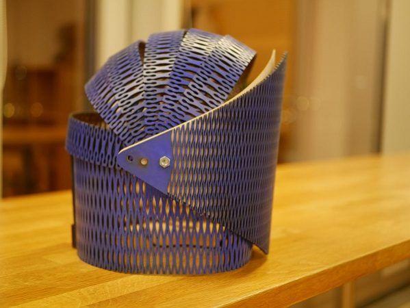 ampoule2 599x450 - Ampoule, un casco de madera que reacciona al sonido