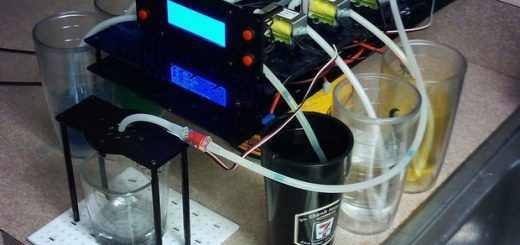 6 shooter 520x245 - Construye un mezclador de bebidas DIY con Arduino Uno