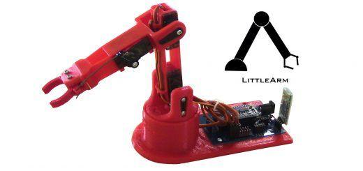 LittleArm 2C1 520x245 - LittleArm 2C, un mini brazo robot para educación y para makers