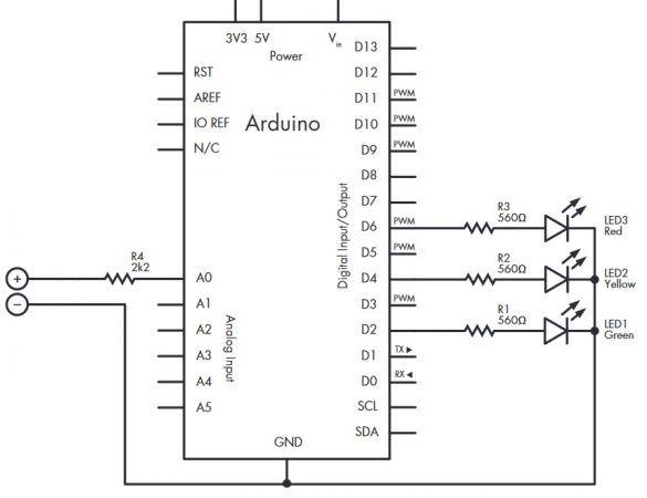 testeador de baterias 585x450 - Cómo construir un sencillo testeador de baterías