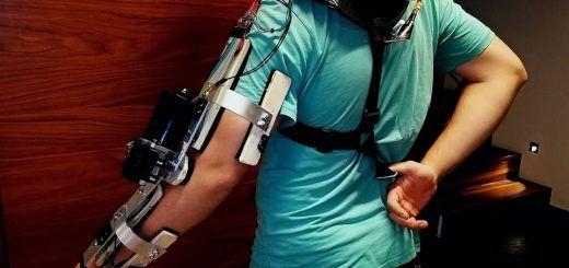 exoesqueleto arduino 520x245 - Construye un brazo Exo esqueleto por menos de 100 euros con Arduino