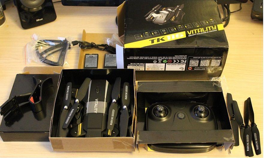 contenido - TKKJ TK116 Vitality, un drone muy completo a muy buen precio, análisis