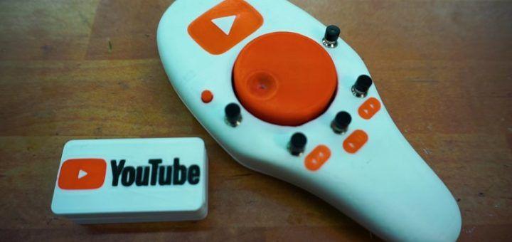 youtube ardiuno1 720x340 - Construye un control remoto para YouTube y Netflix con Arduino e impresión 3D