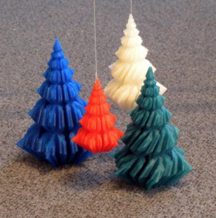 arbol navidad en 3D 446x450 - 11 proyectos para imprimir en 3D para decorar tu casa en Navidad