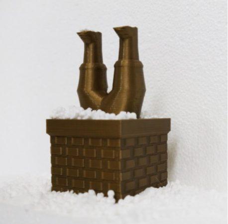 santa claus en 3D 458x450 - 11 proyectos para imprimir en 3D para decorar tu casa en Navidad