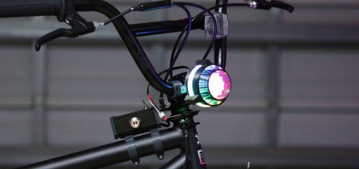 faro bicileta impresion 3d 720x340 - Construye un faro para tu bicicleta que cambie de colores mediante un botón