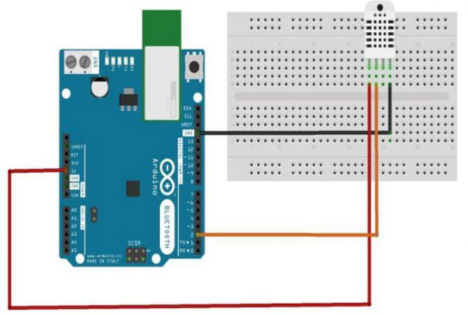 DHT 22 Sensor diagrama 1 668x450 - Arduino - Aprender a usar un Sensor de Humedad