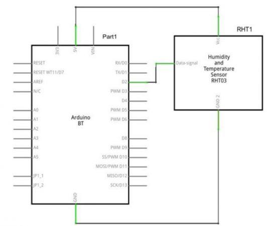 DHT 22 Sensor diagrama 540x450 - Arduino - Aprender a usar un Sensor de Humedad