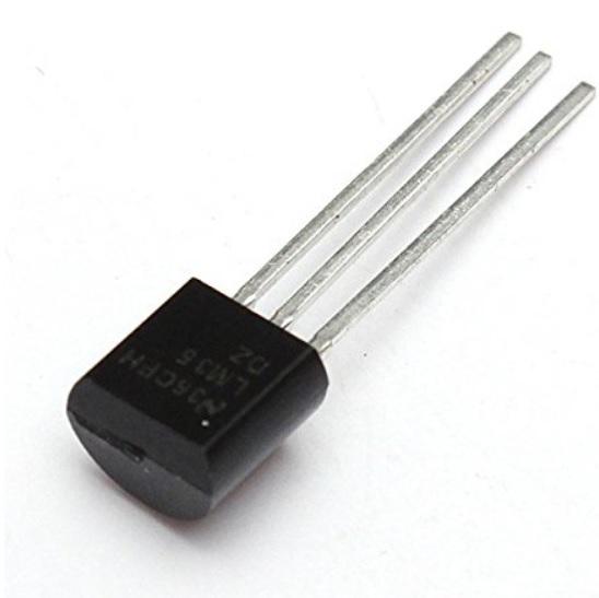 sensor de temparatura LM35 - Cómo construir una Estación meteorológica con ESP8266 usando el IDE de Arduino