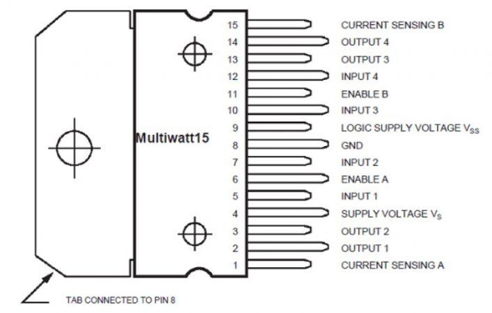 L298 706x450 - Arduino DC Motor, aprende a controlarlo con L298