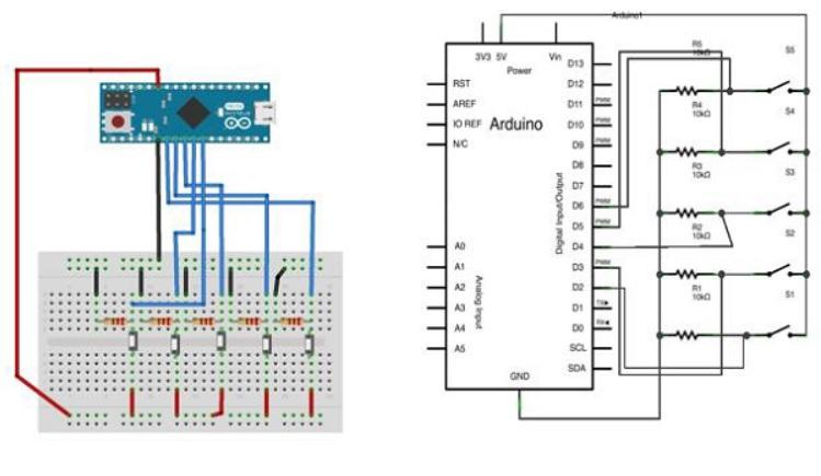 diagrama para controlar el puntero de ratón con Arduino - Cómo simular el control de un ratón con tu Arduino