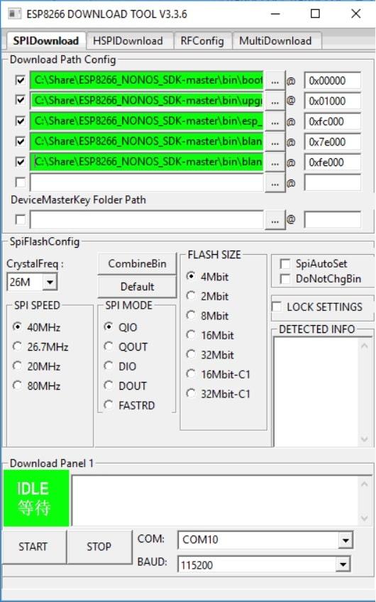 ESP8266 download tool - ESP8266 Módulo WiFi, ¿Qué es y cómo configurar? Pinout y características