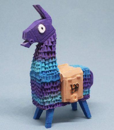 loot lama fortnite 396x450 - 10 modelos gratuitos de Fortnite para imprimir en 3D