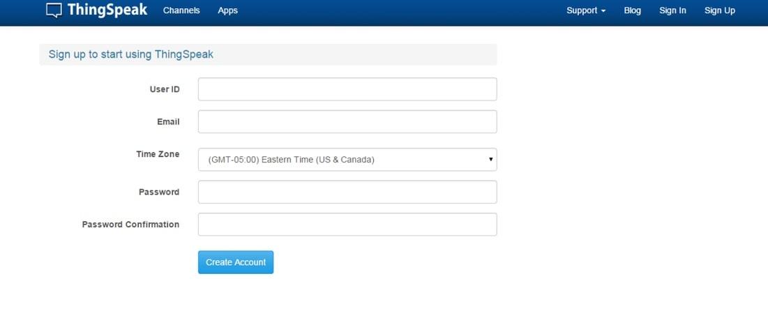 registro de usuario en ThingSpeak - ThingSpeak, plataforma gratuita para la Internet de las Cosas