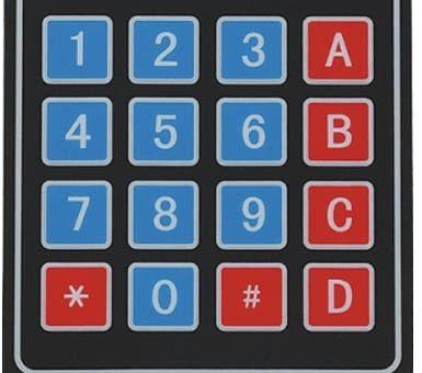 interfaz de teclado 4x4