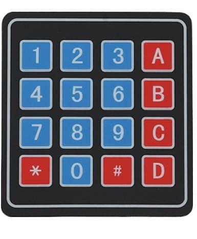 interfaz de teclado 4x4 - Teclado 4x4 cómo Interfaz de entrada con Arduino Uno