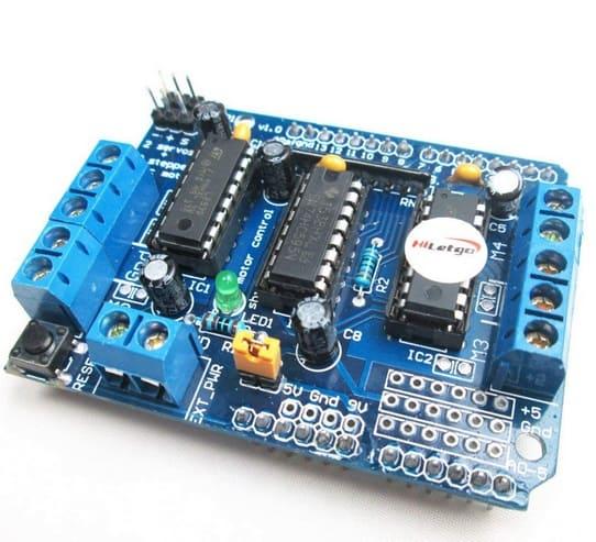 HiLetgo L293D Motor Driver Shield Compatible to Duemilanove Mega UNO R3 AVR ATMEL - Los Mejores motores paso a paso para Arduino