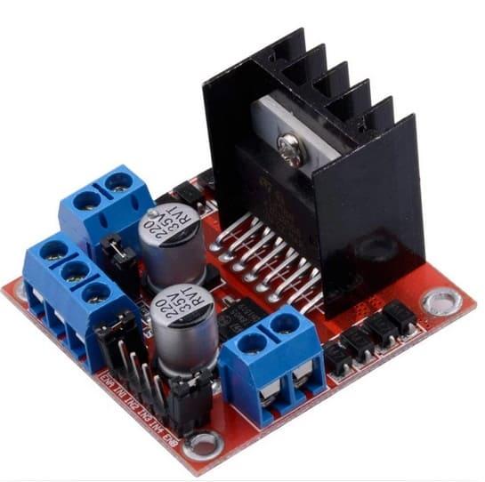 Qunqi L298N Motor Drive Controller Board Module Dual H Bridge DC Stepper for Arduino - Los Mejores motores paso a paso para Arduino