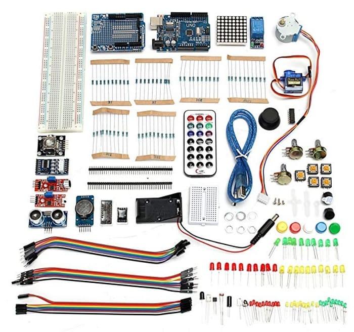 Ultimate UNOR3 Starter con Los Kits De Relé De Servomotor De Paso para Arduino - Los Mejores motores paso a paso para Arduino
