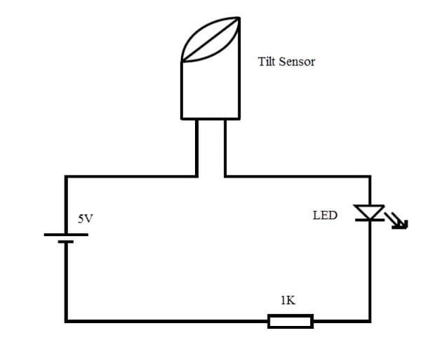 esquema uso tilt sensor con Arduino - Tilt Switch o Sensor de Inclinación ¿Qué es y para que sirve?